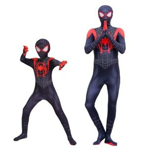 2018 Into the Spider Verse Miles Morales Spiderman Man Jumpsuits Costume Cosplay $20.99
