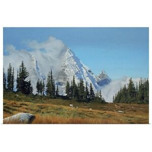 Mountain Mists Poster Art Print Mountain Home Decor