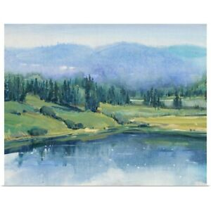 Mountain Lake II Poster Art Print Mountain Home Decor