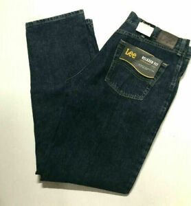 LEE Relaxed Fit Straight Leg Jeans Tomas Dark Blue Wash 2055525 NWT Pick ur Size