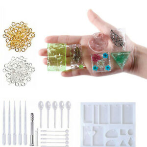 127Pcs Resin Casting Molds Kit Silicone Mold Jewelry Pendant Mould Craft DIY Set