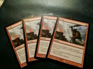 Skred x 4 - Coldsnap - Magic the Gathering MTG - Near Mint NM