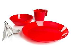 GSI Outdoors Cascadian 1-Person Table 3-PIECE Set Red NEW