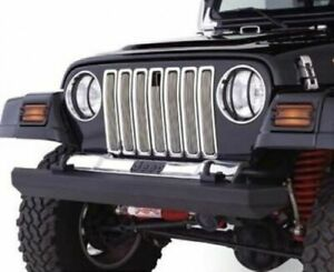 Smittybilt BILLET GRILLE WITH TRIM Fits 1997-2006 Jeep Wrangler 75511