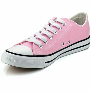New Womens Shoes Low Top Canvas Suede Fashion Sneakers Sport Pink Casual Size 10 $20.99