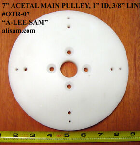 Large 7quot; Wood turning OT pulley for round belting tubing Ornamental lathe