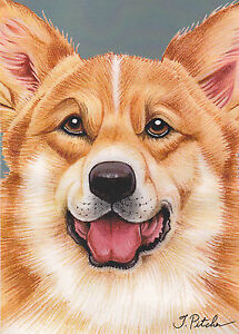 8 Welsh Corgi Dog Breed Note Cards with envelopes by SJT Expression Factory 7X5