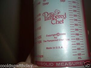 PAMPERED CHEF LIQUID DRY SOLID MEASURING CUP KITCHEN BAKING ACCESSORY