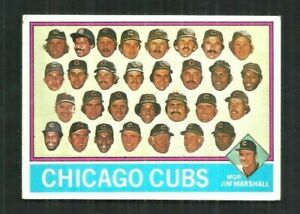 1976 TOPPS #277 CHICAGO CUBS TEAM CARD & C/L UNMARKED - SHARP  -  EXMT or better