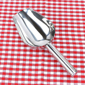 Stainless Steel Bar Ice Scoops Pet Dry Food Bin Scoop Buffet Flour Candy Shovel