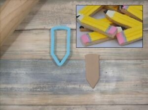 Pencil Sharpener or Crayon Sharpener Cookie Cutter and Fondant Cutter and Cla...