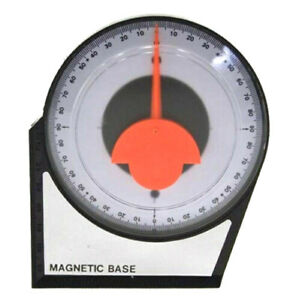 Dial Gauge Angle Finder Magnetic Protractor with Conversion Chart Polycast Weld $10.25