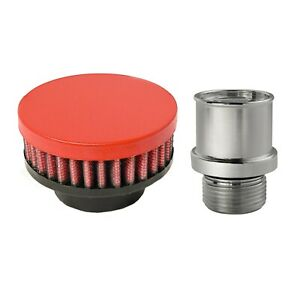 Valve Cover Breather Oil Cap Holley LS CAST ValveValley Covers (Wrinkle Red)  $79.95