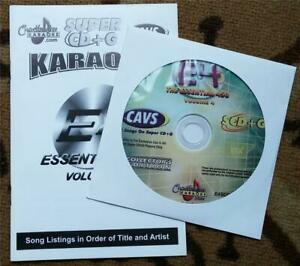CHARTBUSTER SUPER CD+G ESSENTIALS KARAOKE SCDG E4, 450 SONGS, CAVS COUNTRY,1980S