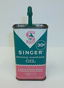 Vintage Singer 30 Cent Sewing Machine Oiler Tin Can $14.99