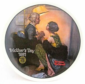 1981 Norman Rockwell Mother's Day