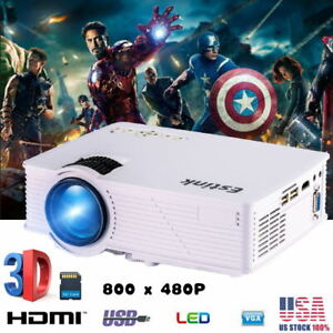 LED Smart Home Theater Projector USB 6.0 4K Wifi 800x480 HD 3D Video Movie