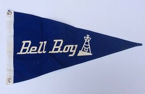 Vintage 60's 70's Bell Boy Boat Flag Burgee Pennant 100% Cotton