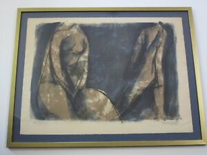 GEORGI DASKALOFF LITHOGRAPH ABSTRACT EXPRESSIONISM MID CENTURY CUBISM FIGURES $396.00