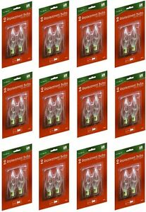 12 ea Holiday T 15 88 2 Pack Electric Brass Window Candle Replacement Bulbs