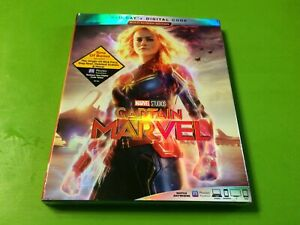 ~NEW~ Captain Marvel Blu-Ray + Digital HD & Slipcover New Free Shipping !!!