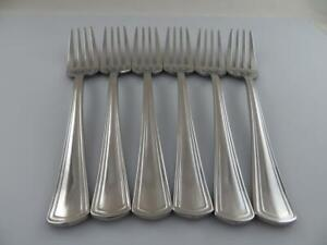 6 Salad Forks PALLADIAN Reed and Barton 18/10 Glossy Stainless Steel Flatware