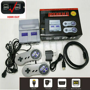 US HDMI SUPER NES Classic Edition Console SNES Mini SFC Retro 821Games Built-in
