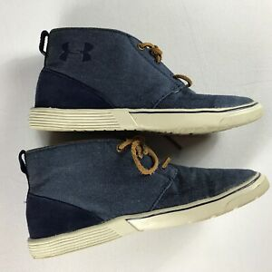 Under Armour Shoes Mens 8 Street Encounter Denim Jeans Look Mid Ankle Lace Up $18.80