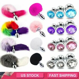 Cosplay False Fox Tail With Metal Anal Butt Plug Funny Toy Games Rabbit Tail