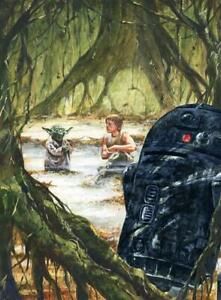 Star Wars Luke Skywalker and Yoda on Dagobah