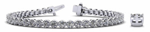 4.83ctw Four Prong Bezel Style Diamond Designer Tennis Bracelet-14K Gold