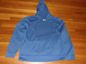 UNDER ARMOUR LONG SLEEVE BLUE HOODIE MENS XL NICE CONDITION