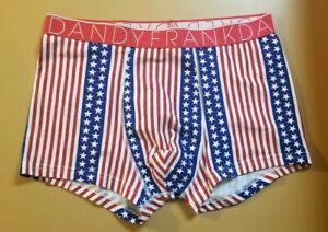 Frank Dandy Men's Red Old Glory Boxer NWT