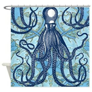 CafePress Antique Octopus On Background Shower Curtain 1797105266