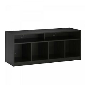 Black Oak 4 Cube TV Stand Console For TVs Up To 59 Home Entertainment Center