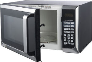 Stainless Steel 0.9 Cu Ft Microwave Oven Kitchen Countertop Touch Pad Control