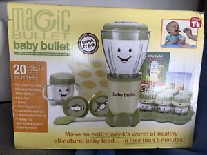Magic Bullet Baby Bullet Complete Baby Food Making System 20 Piece Set.Used Once