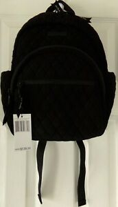 NWT AUTHENTIC  NEW VERA BRADLEY COMPACT SMALL BACKPACK BLACK MICROFIBER  $139.00