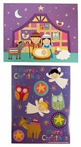 The Gift Wrap Company Small Boxed Holiday Cards with Seals Holy Night $7.97