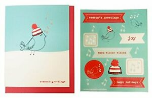 The Gift Wrap Company Small Boxed Holiday Cards with Seals Winter Whistle $10.97