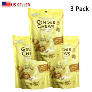 Prince Of Peace 100% Natural Ginger Candy Chews 4 oz BAG (3 Packs) US Seller