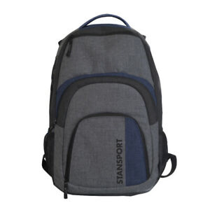 STANSPORT DAYPACK 30L 17 IN LAPTOP GRAY SCHOOL BAG BACKPACK CAMPING OUTDOOR NEW