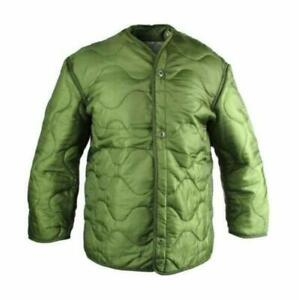Genuine Military Issue Used WButtoms Cold Weather M-65 Field Jacket Liner OD
