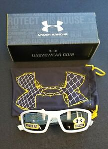 Under Armour Ace Shiny White Grey Youth Fit Sunglasses