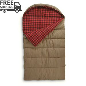 GUIDE GEAR Canvas Hunter Double Sleeping Bag 0F 2 Persons Camp Hike Hunt Outdoor