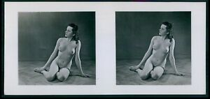 dd Hans Martin Stereoview photo stereo card nude woman pinup original old 1950s $14.00