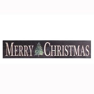 Merry Cristmas Tree Painted & Distressed Wood Sign 39.5