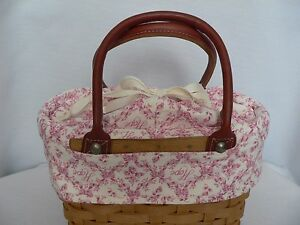 LONGABERGER SMALL BOARDWALK BASKET HORIZON OF HOPE TOTE LINER ONLY - NEW
