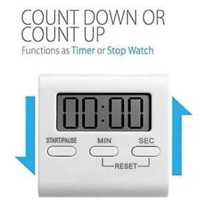 Electronic Timer Cooking Reminder LCD Digital Display Countdown Timer Timers