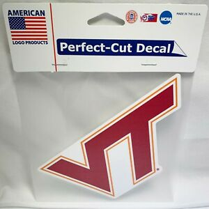 NEW LOGO PRODUCTS VIRGINIA TECH HOKIES PERFECT CUT 6X6 LICENSED DECAL STICKER $5.95